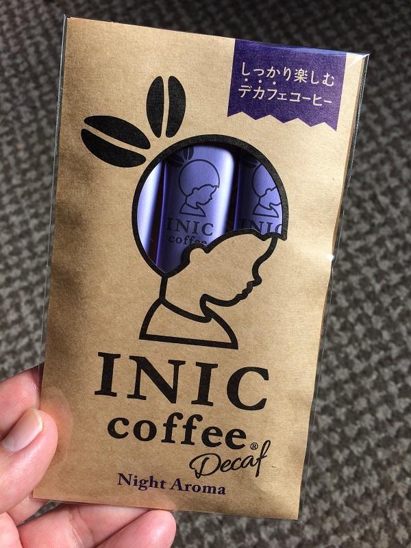 INICコーヒーのカフェインレスを飲んでみました。